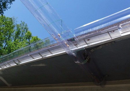 clear gutter makes gutter cleaning easy