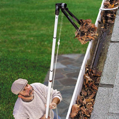 gutter tong to clip debris out of the gutter