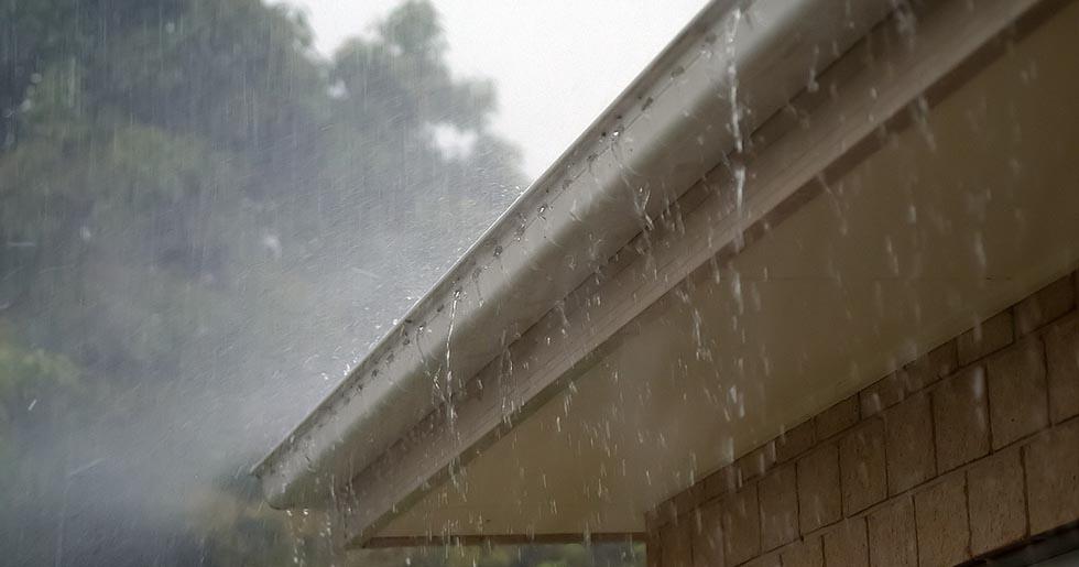 overflowing gutter