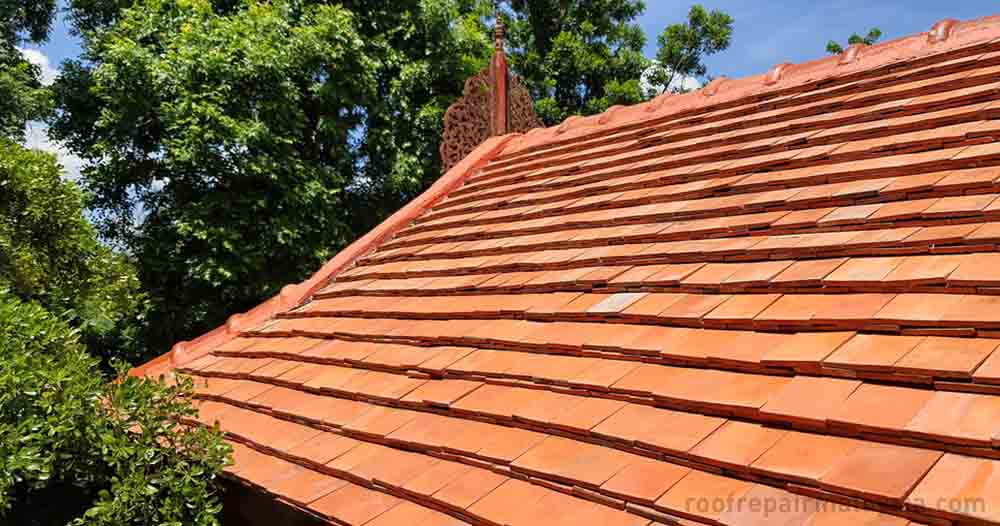 clay roof tile is suitable for both sloped and curved roof