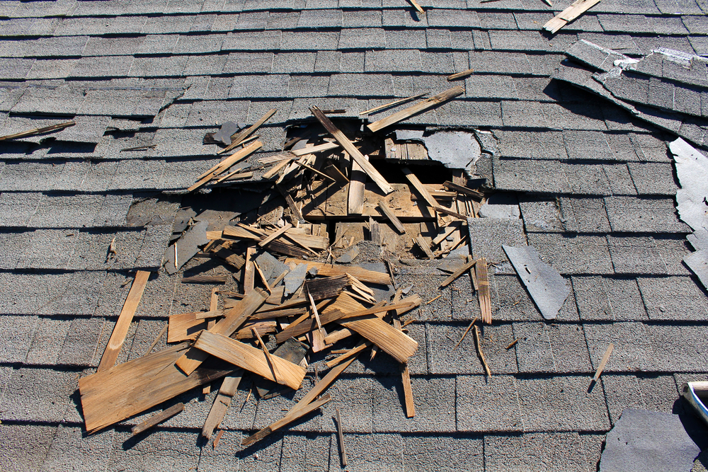 structural roof damage